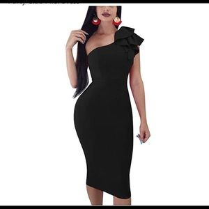 Women's one shoulder dress